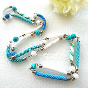 Украшения handmade. Livemaster - original item Beads are burning long