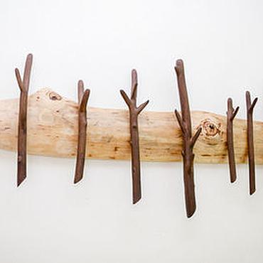 Для дома и интерьера ручной работы. Ярмарка Мастеров - ручная работа Деревянная вешалка для одежды Тайга. Handmade.