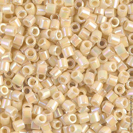 Для украшений ручной работы. Ярмарка Мастеров - ручная работа. Купить Бисер delica 8/0 Opaque Cream AB 5 (!) гр.. Handmade.