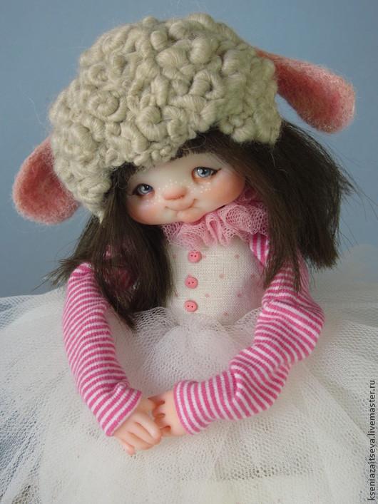 """Коллекционные куклы ручной работы. Ярмарка Мастеров - ручная работа. Купить """" Овечка Мэри"""". Handmade. Розовый, девочка"""