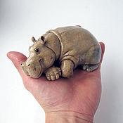 Для дома и интерьера ручной работы. Ярмарка Мастеров - ручная работа Отдыхающий бегемот (маленький). Handmade.