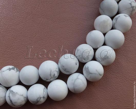Для украшений ручной работы. Ярмарка Мастеров - ручная работа. Купить Кахолонг (говлит) матовый /шарик, 10 мм/. Handmade.