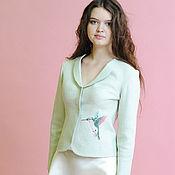 Одежда handmade. Livemaster - original item Felted jacket mint green