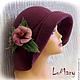"""Шляпы ручной работы. Ярмарка Мастеров - ручная работа. Купить Шляпка """"Audrey""""2. Handmade. Брусничный, шляпка, авторская ручная работа"""