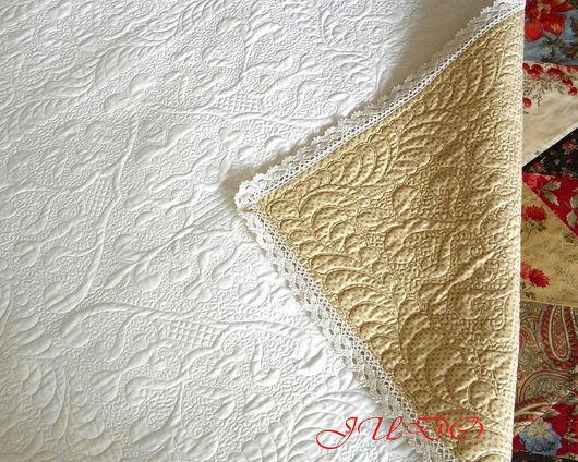"""Для новорожденных, ручной работы. Ярмарка Мастеров - ручная работа. Купить Одеяло для новорожденного """"Султан"""". Handmade. Белый, трапунто, султан"""