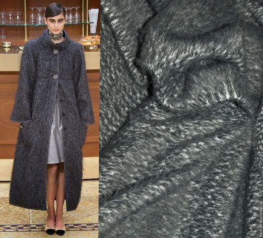 Шитье ручной работы. Ярмарка Мастеров - ручная работа. Купить Ткань роскошная пальтовая шерсть с ангорой. Handmade. Серый