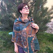 Аксессуары handmade. Livemaster - original item Stole felted on silk