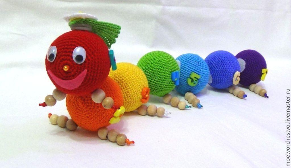 Развивающие вязаные игрушки своими руками схемы 47