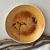 Посуда ручной работы. Ярмарка Мастеров - ручная работа Тарелка керамическая Осенняя. Handmade.