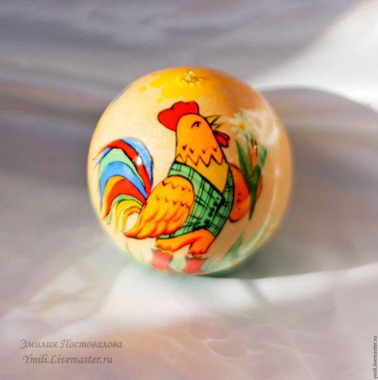 Петушок новогодний . Елочный шар шкатулка. Авторская роспись по дереву. Елочный шар шкатулка с авторской росписью. Шар в подарок на рождество и новый год 2017