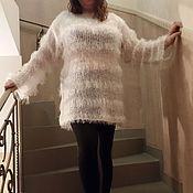 """Одежда ручной работы. Ярмарка Мастеров - ручная работа Вязанный свитер """"White Swan"""". Handmade."""