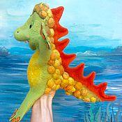 Куклы и игрушки ручной работы. Ярмарка Мастеров - ручная работа Динозавр - перчаточная игрушка. Handmade.