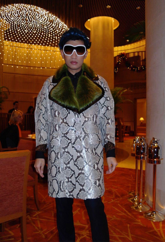Пальто из натуральной кожи питона, Пальто, Москва,  Фото №1