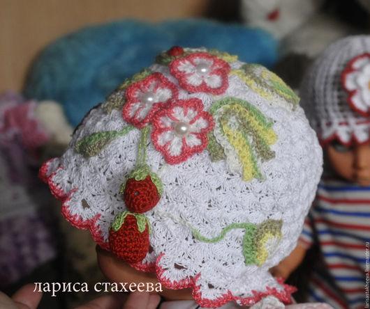 Шапки и шарфы ручной работы. Ярмарка Мастеров - ручная работа. Купить шапка Ягодка. Handmade. Белый