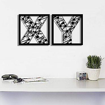 Для дома и интерьера ручной работы. Ярмарка Мастеров - ручная работа X и Y хромосомы- абстрактные композиции из металла на стену. Handmade.