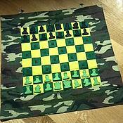 """Куклы и игрушки ручной работы. Ярмарка Мастеров - ручная работа Панно """"Шахматы"""". Handmade."""