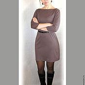Одежда ручной работы. Ярмарка Мастеров - ручная работа Платье из джерси casual - цвет какао. Handmade.