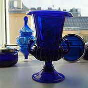 Винтаж handmade. Livemaster - original item Vintage cobalt glass vase. Handmade.