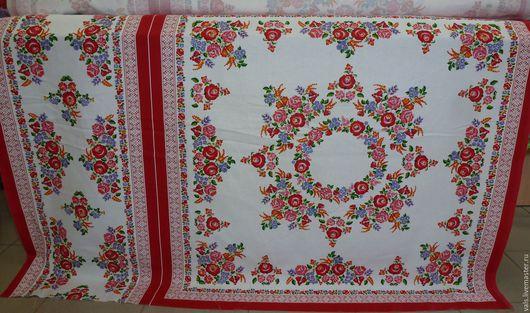 Магазин натуральных тканей, купить ткань хлопковую Светелка, натуральная ткань, скатерть в народном стиле