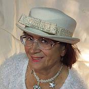 """Свадебный салон ручной работы. Ярмарка Мастеров - ручная работа шляпка """"королевна""""  белого цвета с золоченой тесьмой. Handmade."""