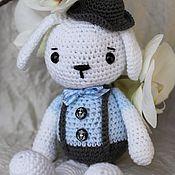 Куклы и игрушки ручной работы. Ярмарка Мастеров - ручная работа Зайчик в шляпе. Handmade.