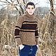 """Для мужчин, ручной работы. Ярмарка Мастеров - ручная работа. Купить Мужской свитер """"Осенний""""2. Handmade. Коричневый, джемпер"""