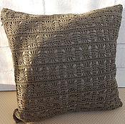 Для дома и интерьера ручной работы. Ярмарка Мастеров - ручная работа Накладка на подушку вязаная крючком а-ля Zara Home. Handmade.