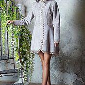 Одежда handmade. Livemaster - original item Coat designer!Beautiful coat with lace. Handmade.