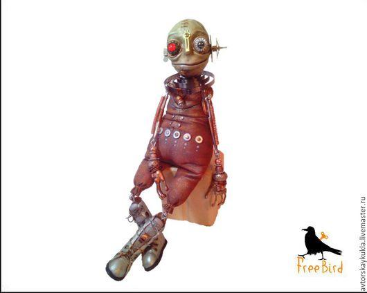 Коллекционные куклы ручной работы. Ярмарка Мастеров - ручная работа. Купить Странник.. Handmade. Коричневый, freebird