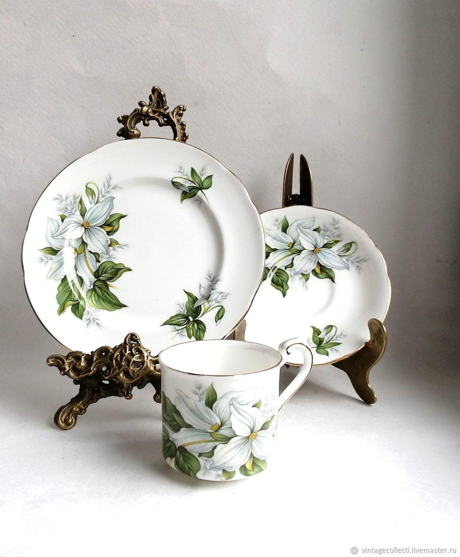 Винтажная посуда. Ярмарка Мастеров - ручная работа. Купить Винтаж: Трио Paragon Trillium. Handmade.