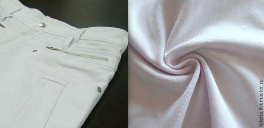 """Шитье ручной работы. Ярмарка Мастеров - ручная работа. Купить Джинсовая ткань с эластаном """"Белый деним"""". Handmade. Ткань для платья"""
