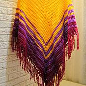 Одежда ручной работы. Ярмарка Мастеров - ручная работа Пончо вязаное крючком. Handmade.