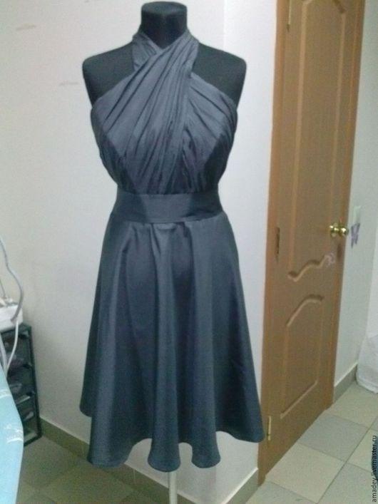 Платья ручной работы. Ярмарка Мастеров - ручная работа. Купить Платье. Handmade. Серый, платье вечернее, искусственный шёлк