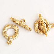 Материалы для творчества handmade. Livemaster - original item 2857_1 toggle Clasp gold plated toggle Clasp gold plated mm 16x12 South Korea. Handmade.