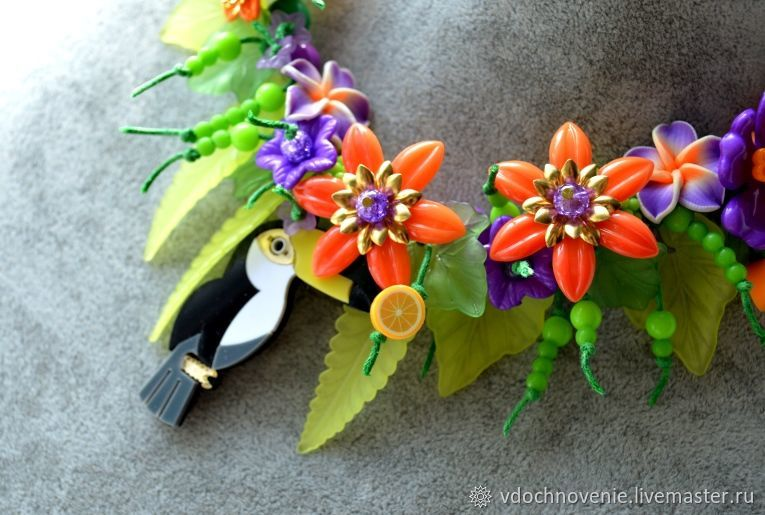 Jewelry set for girls 'Tropics', Gift for newborn, Kolomna,  Фото №1