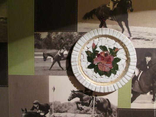 """Декоративная посуда ручной работы. Ярмарка Мастеров - ручная работа. Купить Декоративная тарелка """"цветы"""". Handmade. Комбинированный, тарелочка, мозаика"""