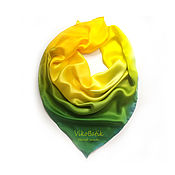 Аксессуары handmade. Livemaster - original item Accessory Silk scarf Yellow with green