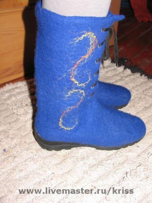 Обувь ручной работы. Ярмарка Мастеров - ручная работа. Купить валенки на шнуровке. Handmade. Валенки ручной валки, валенки для улицы
