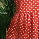 Платья ручной работы. Платье №1 (красный горох). chere-turtle accessorise. Ярмарка Мастеров. Платье по фигуре, ярко-красный