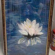 Картины и панно ручной работы. Ярмарка Мастеров - ручная работа Лотос. Handmade.
