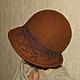 """Шляпы ручной работы. Валяная шляпка """"Виктория"""". Marina Valiulis   Марина Валюлис. Интернет-магазин Ярмарка Мастеров. Фелтинг"""