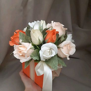 Цветы и флористика ручной работы. Ярмарка Мастеров - ручная работа Букет из конфет. Handmade.