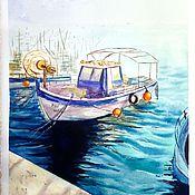 Картины и панно ручной работы. Ярмарка Мастеров - ручная работа Акварель Южный порт. Handmade.