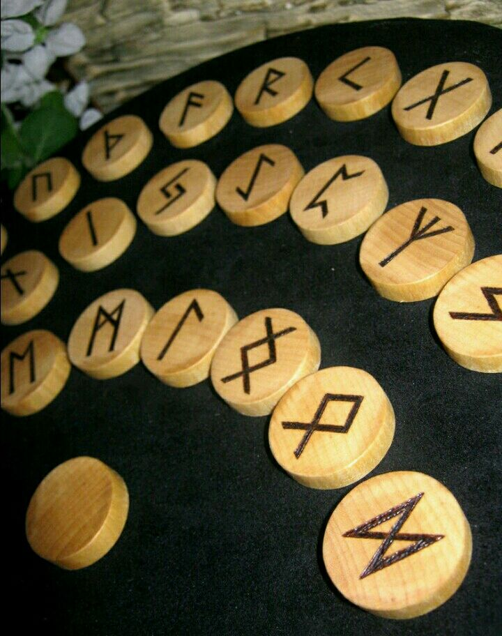 The RUNES of the FUTHARK solid wood, birch. Handmade, Figurines in Russian style, Asha,  Фото №1