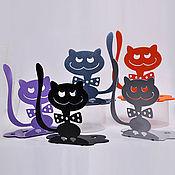 """Для дома и интерьера ручной работы. Ярмарка Мастеров - ручная работа подставка под кольца """"Кот с бантом"""". Handmade."""