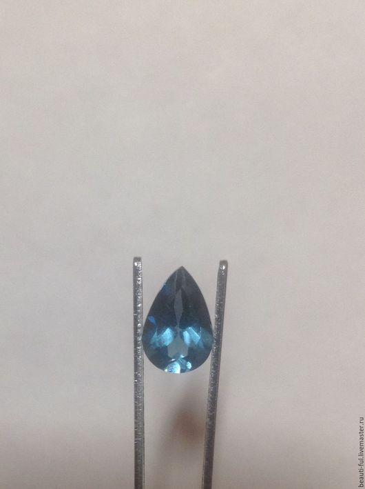 Для украшений ручной работы. Ярмарка Мастеров - ручная работа. Купить Голубой топаз Лондон огранка груша 6-9 мм. Handmade.