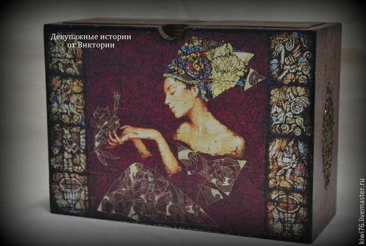 """Шкатулки ручной работы. Ярмарка Мастеров - ручная работа. Купить Фотобокс """"Королева"""". Handmade. Бордовый, фотография, альбом для фотографий"""