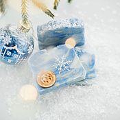 Косметика ручной работы handmade. Livemaster - original item Natural soap from scratch Blue frost winter new year blue. Handmade.