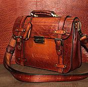 """Сумки и аксессуары ручной работы. Ярмарка Мастеров - ручная работа Портфель кожаный """" leather briefcase"""". Handmade."""