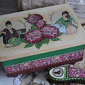 """Для дома и интерьера ручной работы. Ярмарка Мастеров - ручная работа Короб для обувных принадлежностей """"Дамочки"""" (с наполнением). Handmade."""